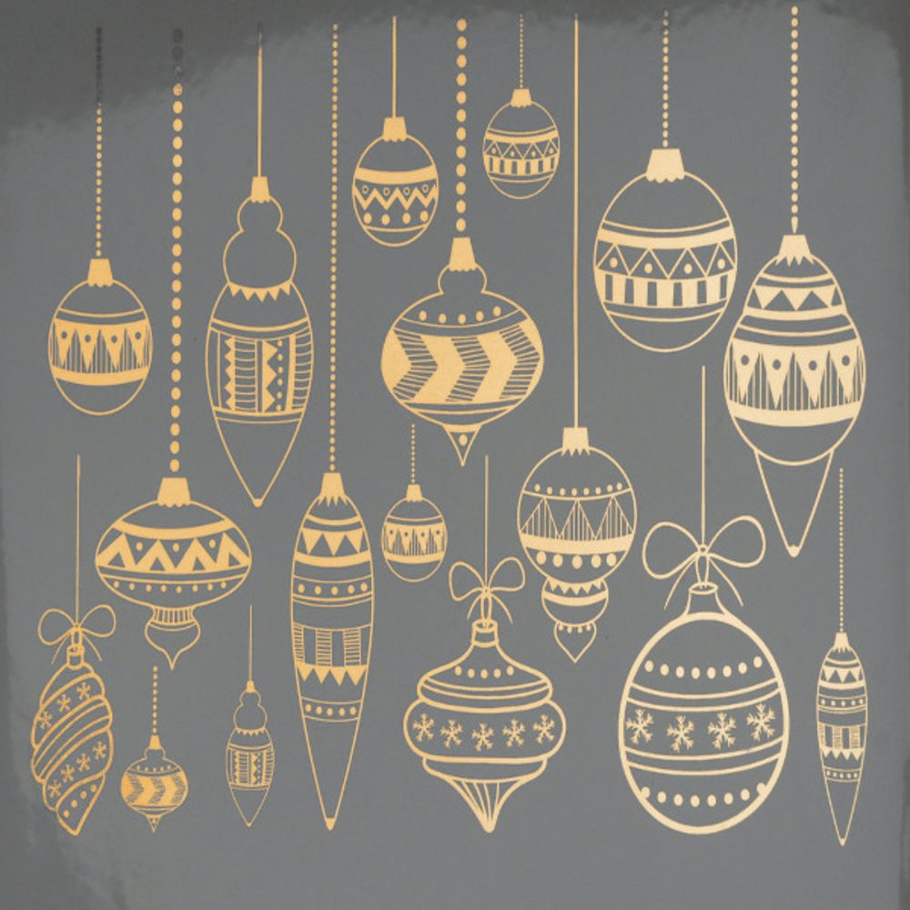Christmas Ornaments Decal Sheet