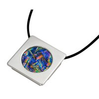 Circle Gallery Frame Pendant Silver Plated