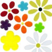 COE90 Glass Flowers