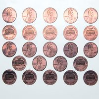Copper Penny Decals Sheet