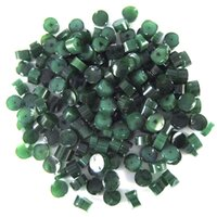 Dark Forest Green Opalescent Dots - COE90