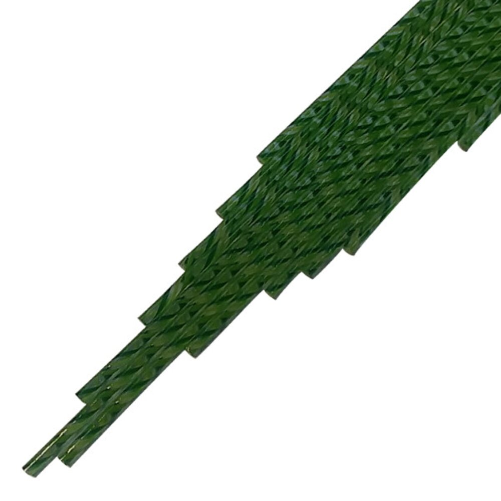 Twisted Cane Dark Green, Fern Green and Amazon Green Twist Cane COE96