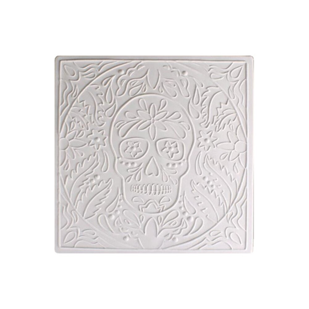 Day of The Dead Textured Fusing Tile