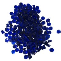 Deep Royal Blue Transparent Dots COE90