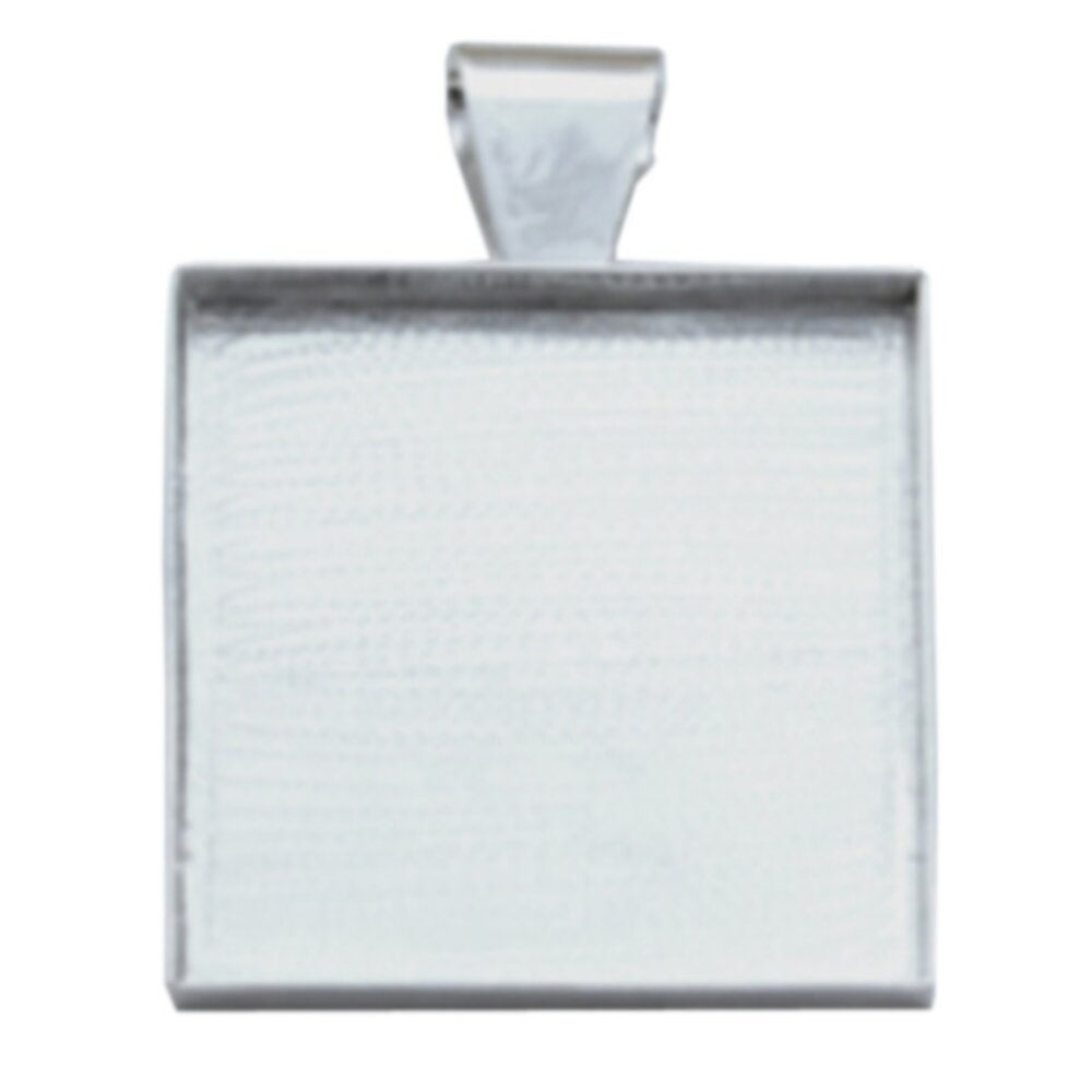 Deep Well Square Pendant 25.4 x 4mm