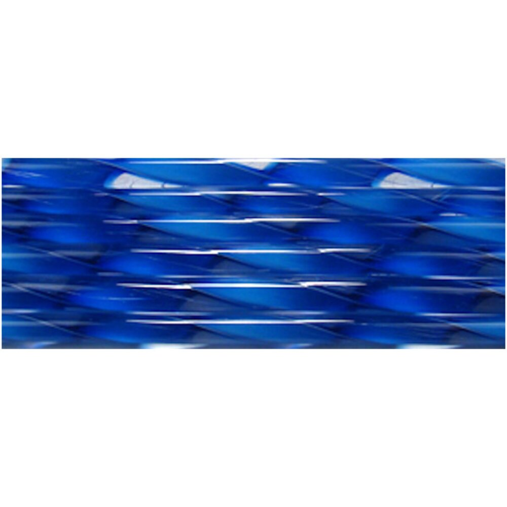 Deep Royal Blue Streamer Glass Cane COE90