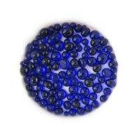 Deep Royal Blue Transparent Frit Balls COE90