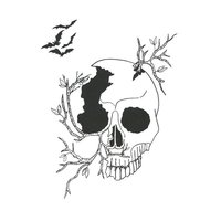 Designer Silk Screen - Halloween Skull Pattern