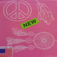 Designer Silk Screen - Southwest Peace & Feather Pattern