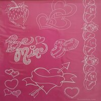 Designer Silk Screen - Valentine Pattern