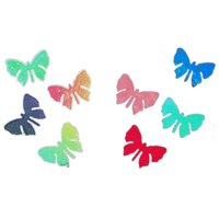 Dichroic Butterfly, Assorted Colors, Pack of 4 COE96