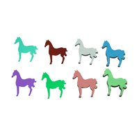 Dichroic Horse, Assorted Colors, Pack of 4 - COE90