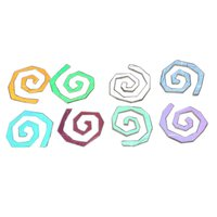 Dichroic Round Funky Spiral, Assorted Colors, Pack of 4 - COE90