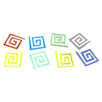 Dichroic Square Funky Spiral, Assorted Colors, Pack of 4 - COE90