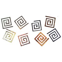 Dichroic Square Spiral, Assorted Colors, Pack of 4 COE96