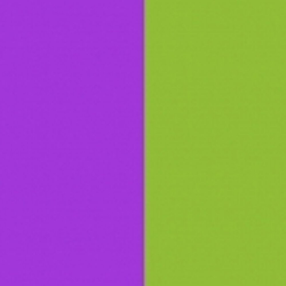 DichroMagic Violet/ Yellow-Green Coating on Thin Black Glass COE96