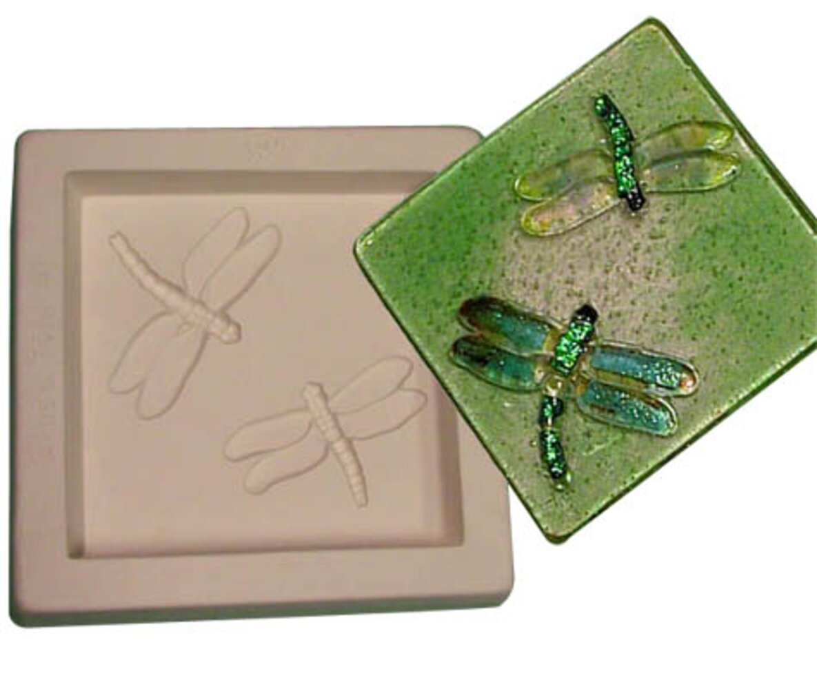 Dragonflies 6 Tile Kiln Casting Mold (Dragonfly)