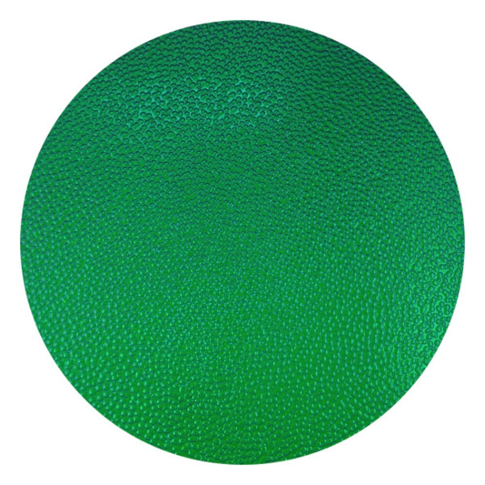 CBS Dichroic Coating Emerald Green on Wissmach Thin Black Hammered Texture Glass COE90