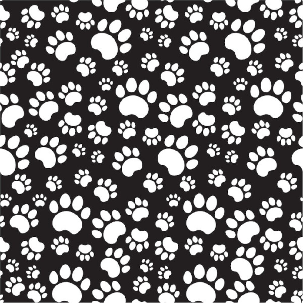 Etched Paws Pattern
