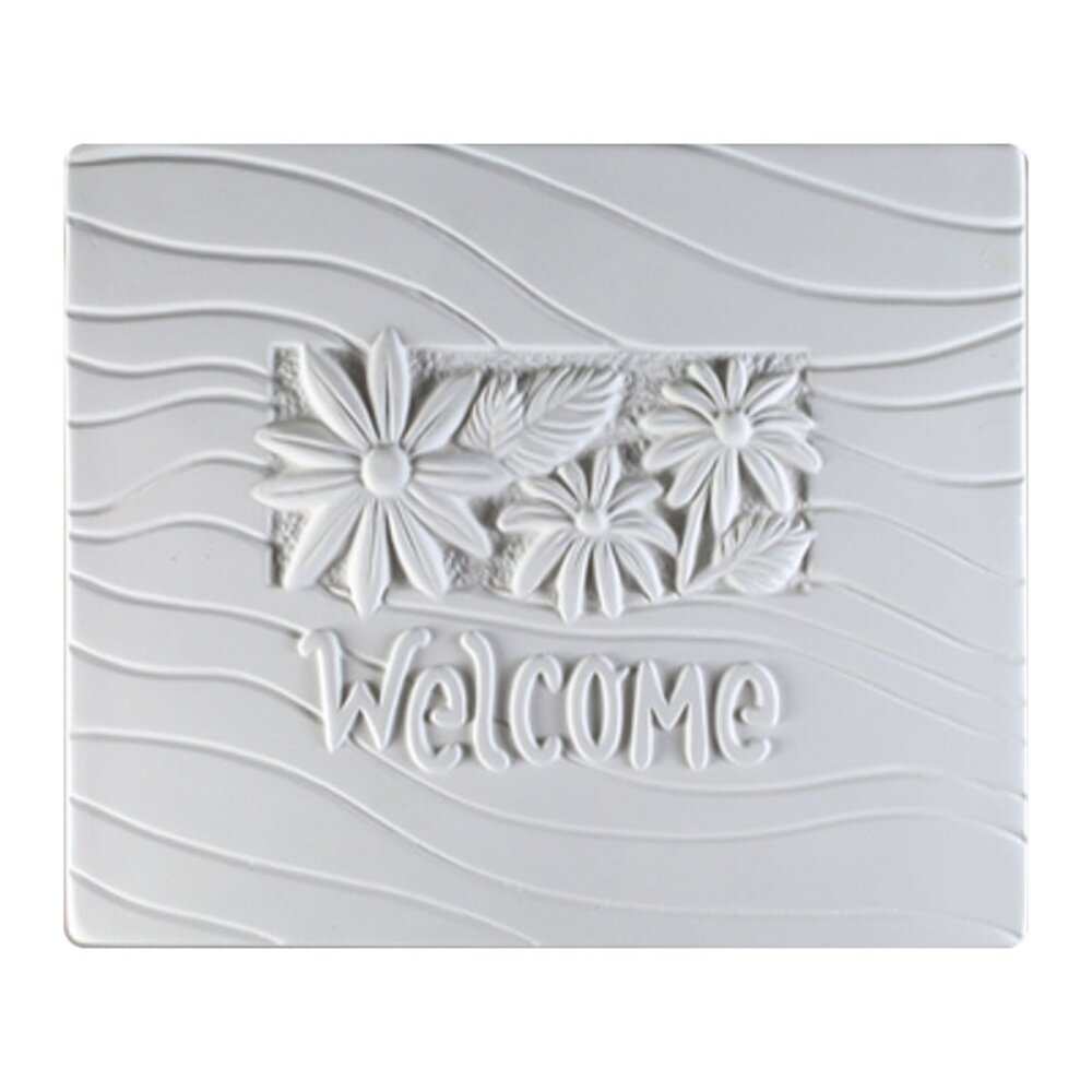 Flower Welcome Textured Fusing Tile