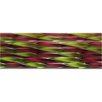 Fuchsia and Spring Green Ribbon Glass Cane COE90
