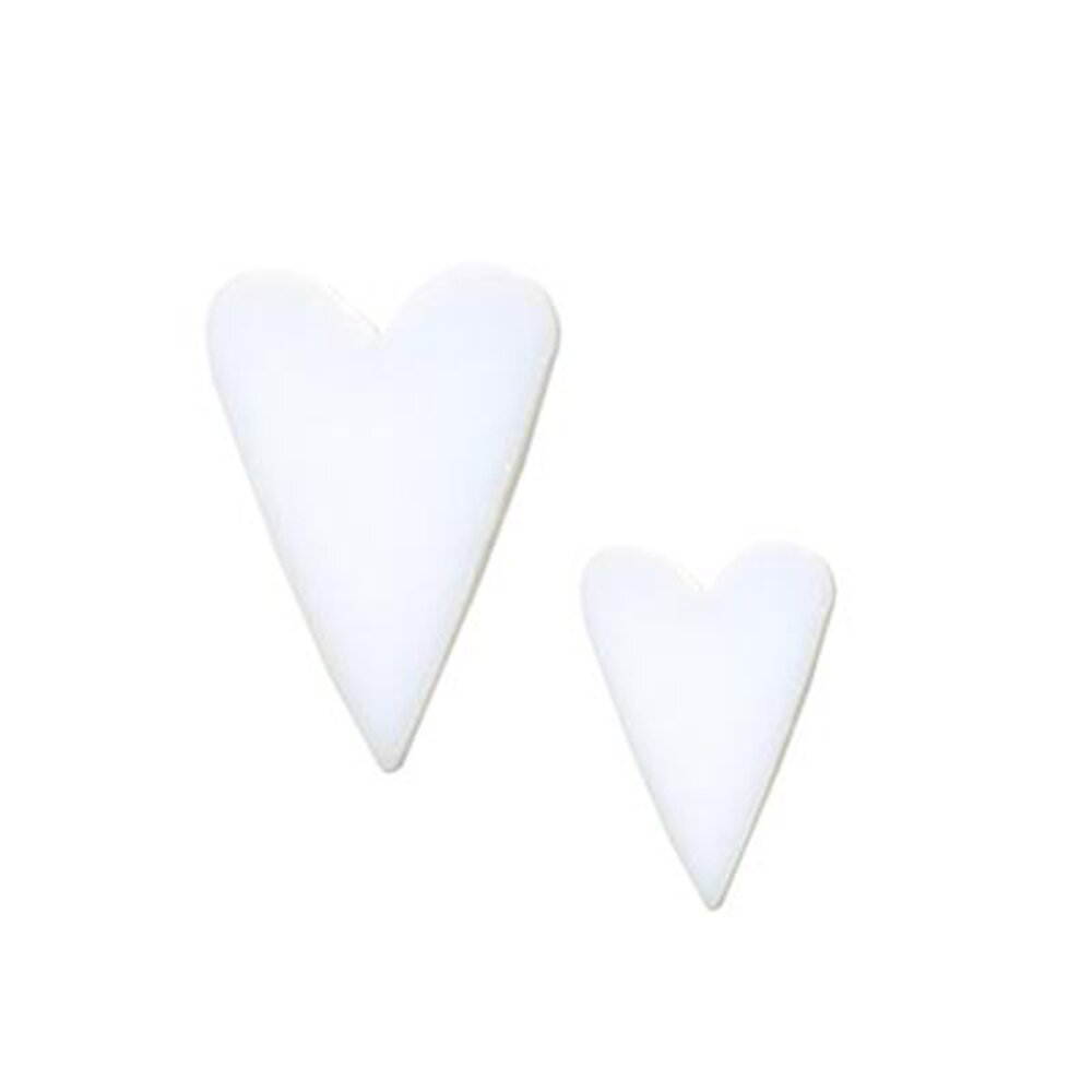 Precut Long Heart White Opalescent COE90