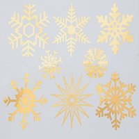 Large Snowflakes Decal Sheet