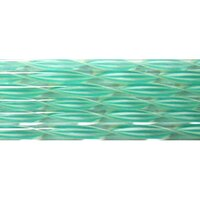 Nougat and Teal Striped Ribbon Glass Cane COE90