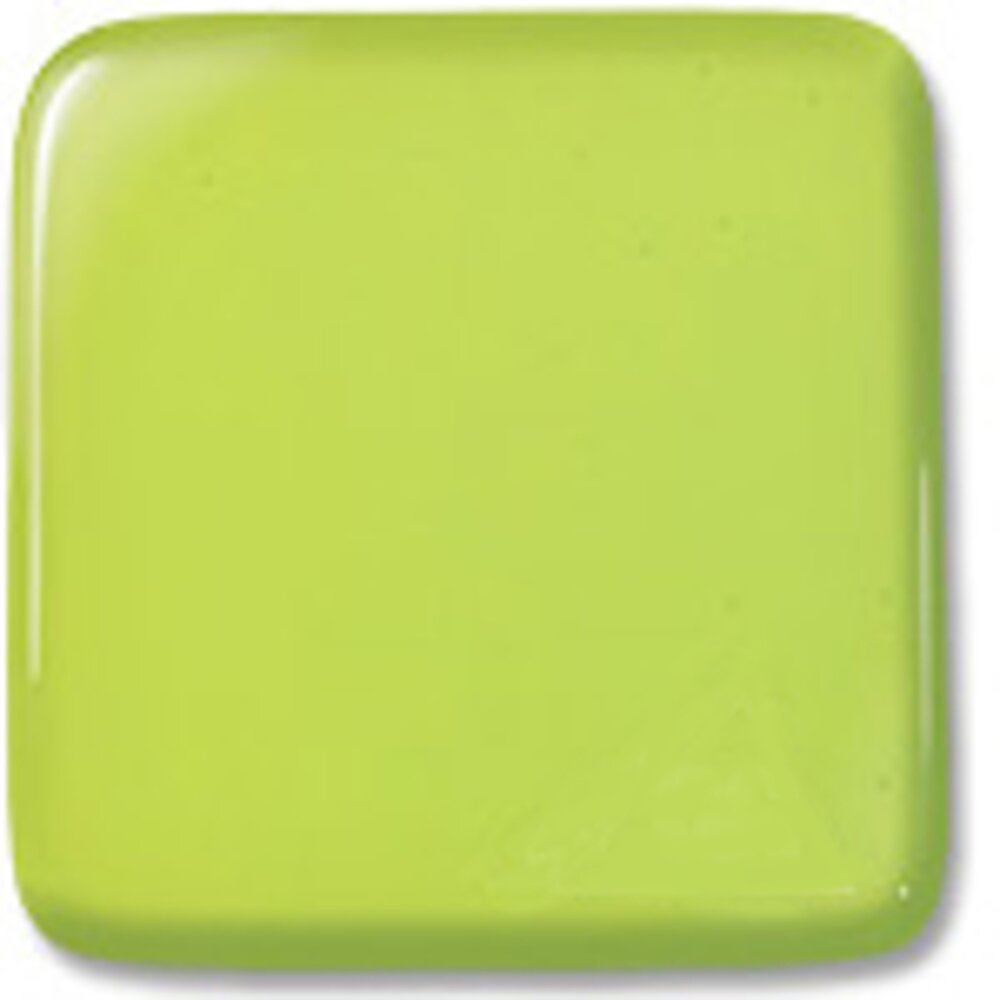 Oceanside Glass Lime Green Transparent, Double-rolled, 3mm COE96