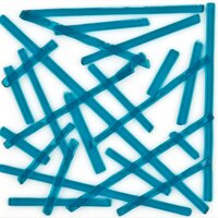 Oceanside Glass Noodles Deep Aqua Transparent COE96