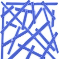 Oceanside Glass Noodles Medium Blue Opalescent COE96