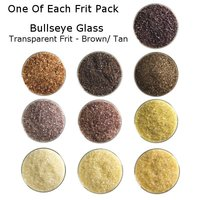 One of Each Frit Packs - Bullseye Glass Brown/ Tan Transparent Frit - COE90
