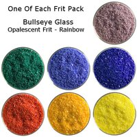 One of Each Frit Packs Bullseye Glass Rainbow Opalescent Frit COE90