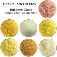 One of Each Frit Packs - Bullseye Glass Orange/ Yellow Transparent Frit - COE90