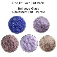One of Each Frit Packs - Bullseye Glass Purple Opalescent Frit - COE90