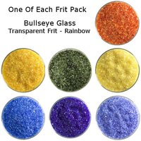 One of Each Frit Packs - Bullseye Glass Rainbow Transparent Frit - COE90