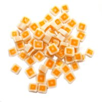 Orange Hip To Be Square Murrini/ Millefiore COE90