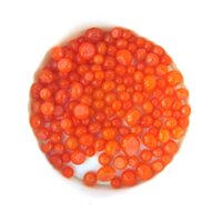 Orange Opalescent Frit Balls COE90