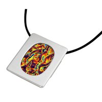 Oval Gallery Frame Pendant - Silver Plated