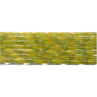 Pumpkin, Yellow and Teal Striped Ribbon Glass Cane COE90
