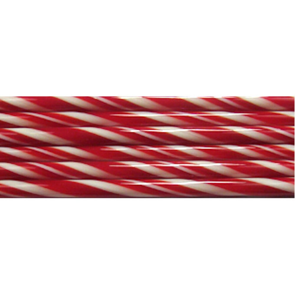 Red and French Vanilla Striped Glass Cane COE90