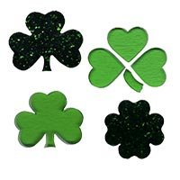 COE96 Glass Shamrocks