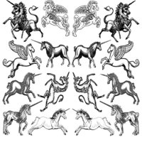 Unicorns Decal Sheet
