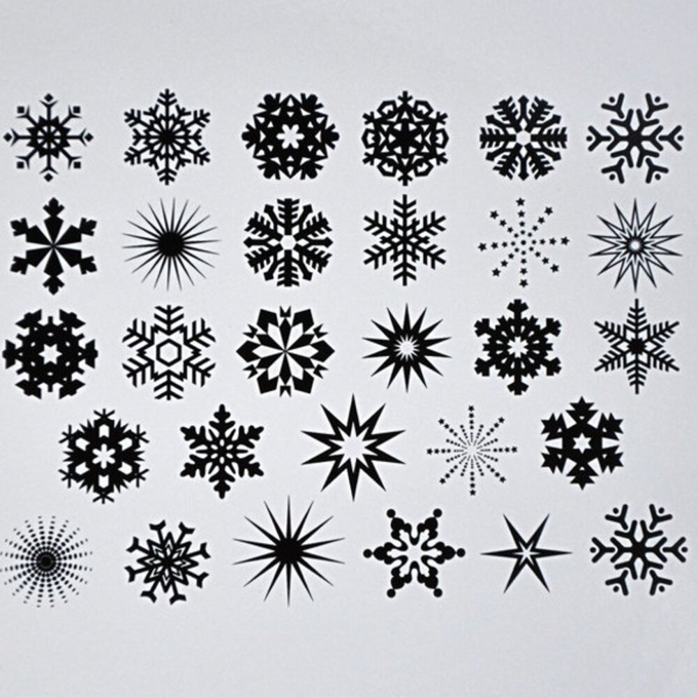 Snowflakes Decal Sheet