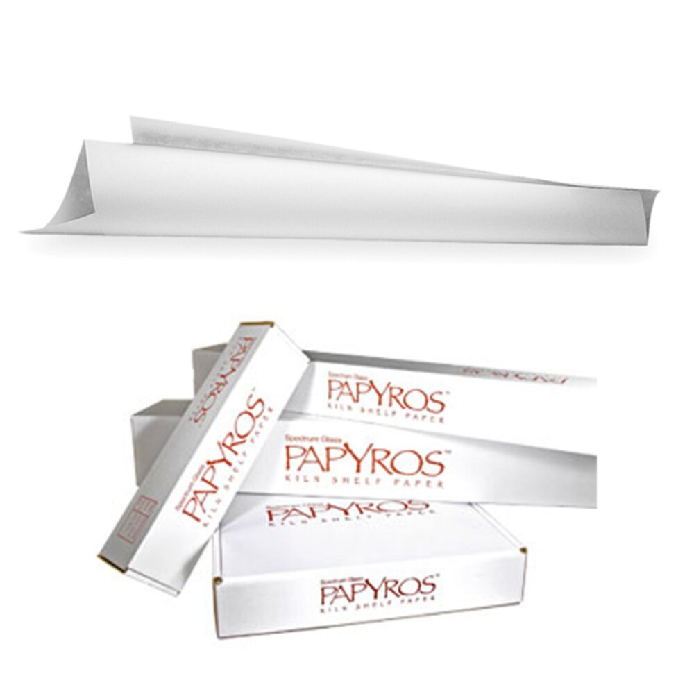 Papyros Kiln Shelf Paper (Less clean-up than ordinary kiln wash!)