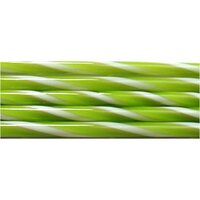 Spring Green and French Vanilla Striped Glass Cane COE90