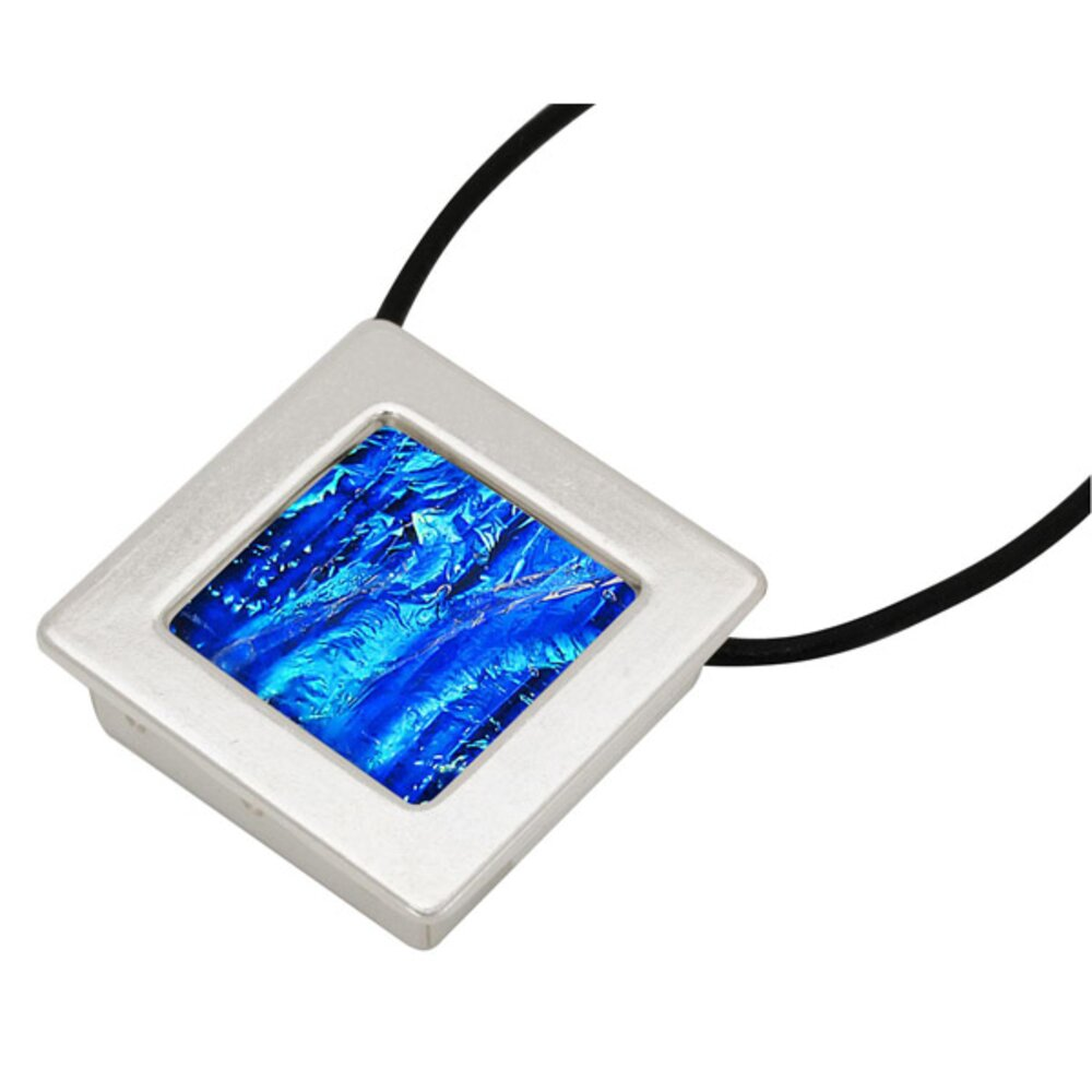 square gallery frame pendant silver plated