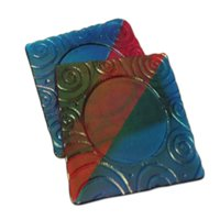 Swirl Textured Coaster Draping Mold