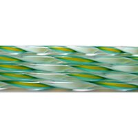Turquoise, Marigold and White Streamer Glass Cane COE90