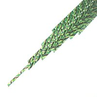 Twisted Cane Clear with Spring Green, Black and Jade Green Single Twist Cane COE90